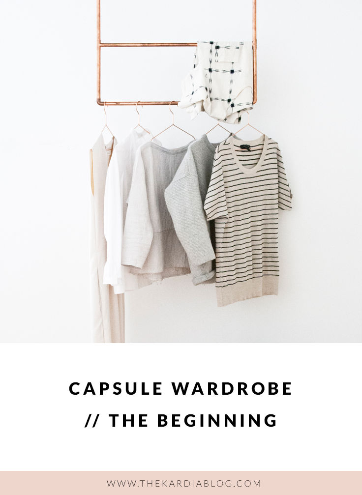 Wondering about how to start a capsule wardrobe? Here are the answers to your questions and a look into how I'm starting my capsule wardrobe.