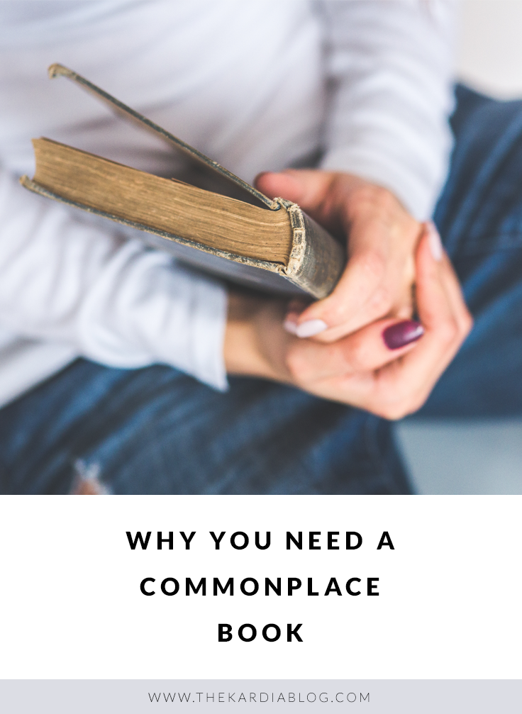 A commonplace book is a means of saving important information that you want to mark and keep for later.