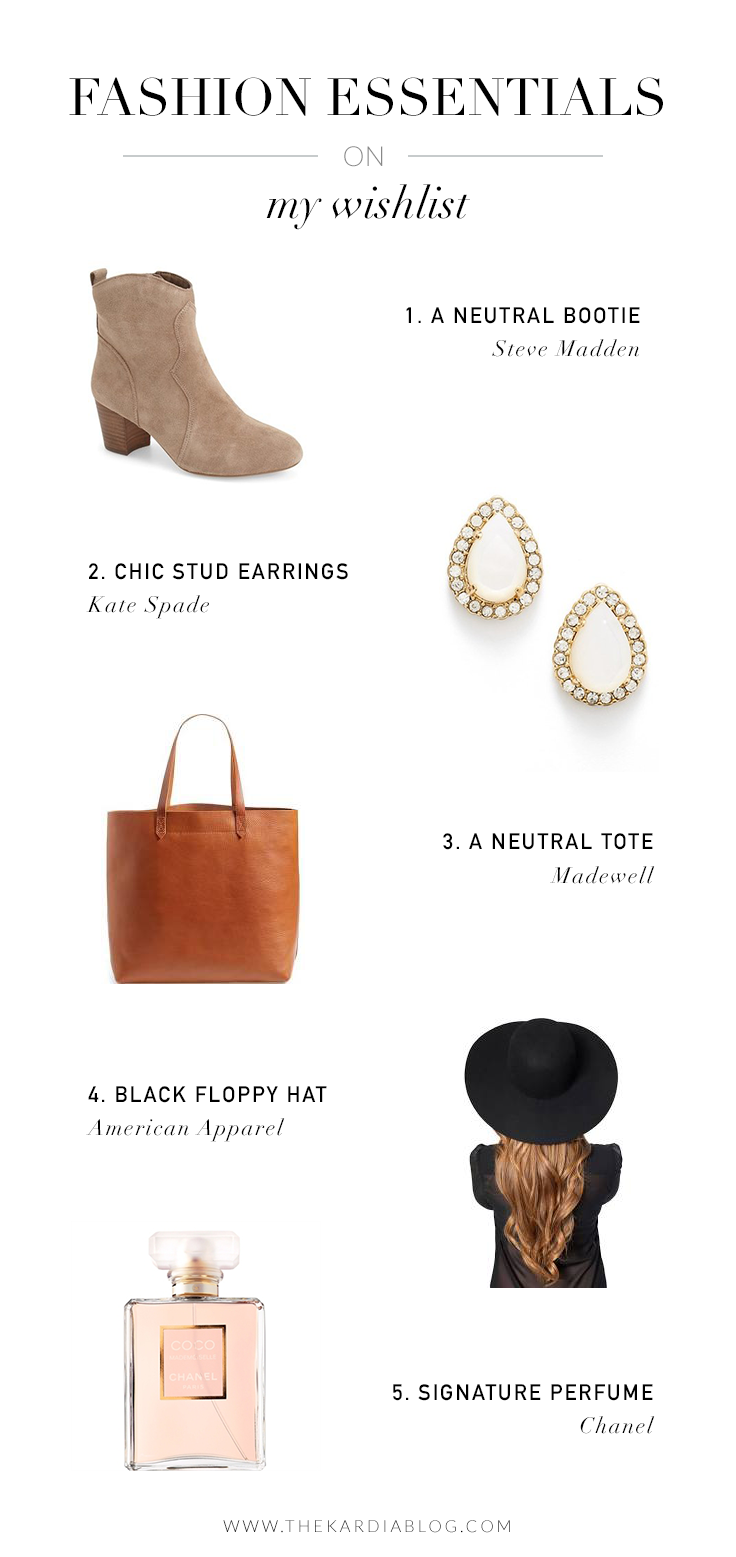 Fashion essentials on my wishlist