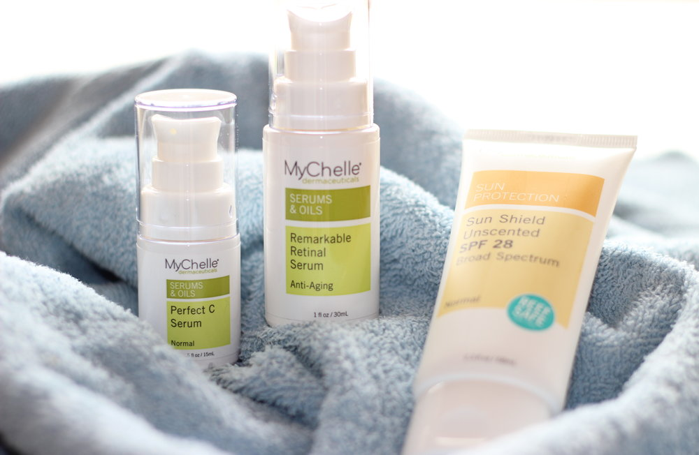 MyChelle Dermaceuticals skincare set AND a $25 gift card to Fresh Thyme Farmers Market!