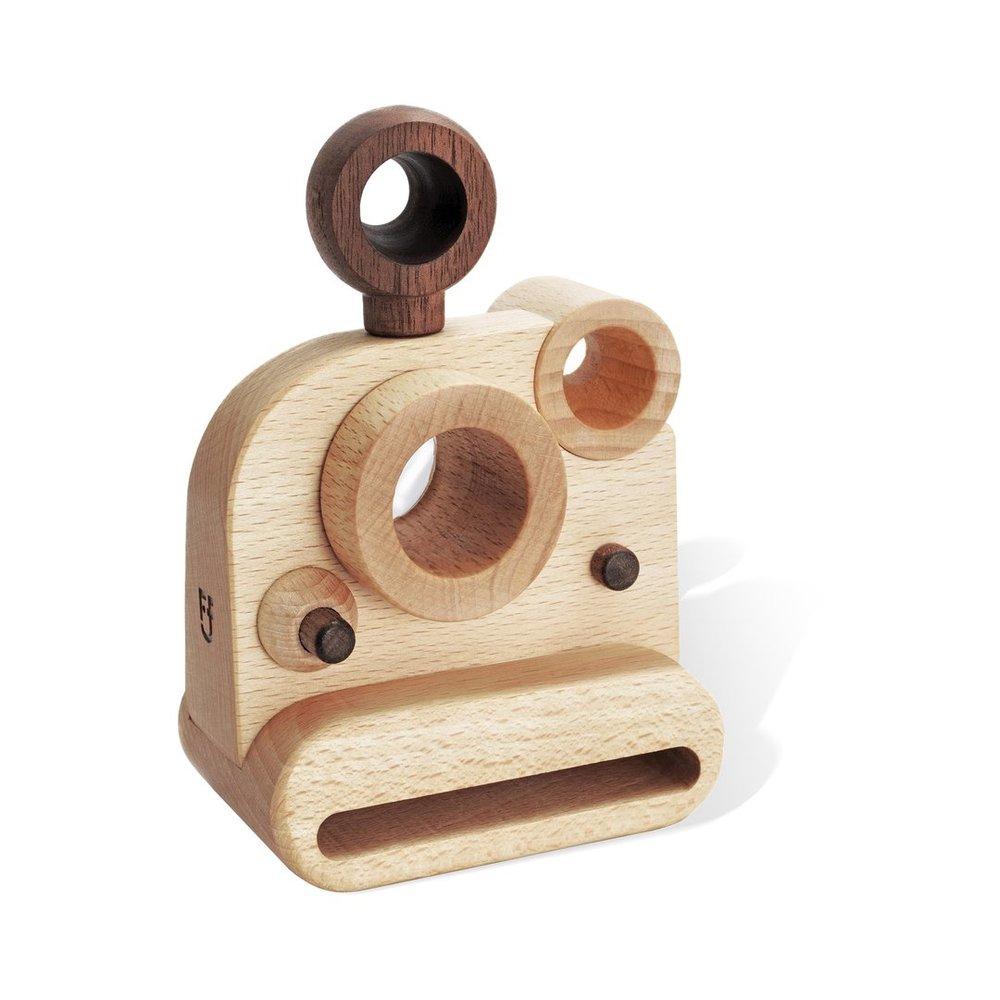 Polaroid Style Wooden Toy Camera with Kaleidoscope Lens