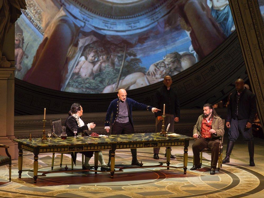 Spoletta in  Tosca;   credit Wolf Trap Opera