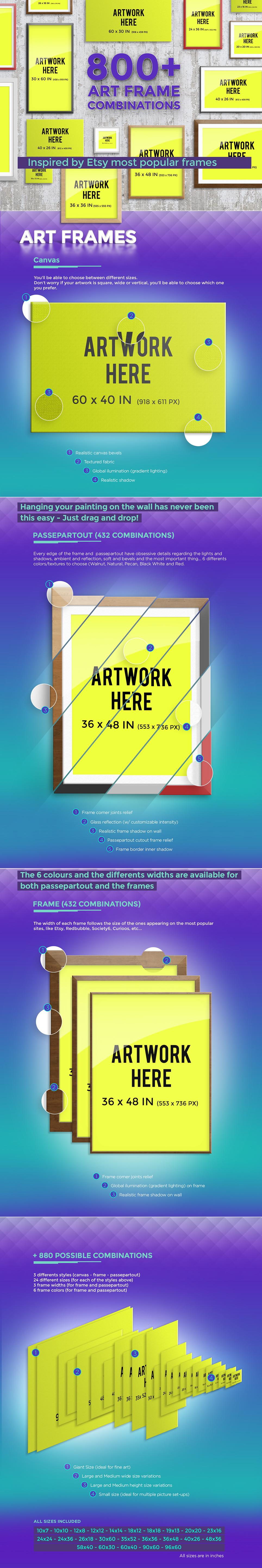 Pro Mockup, art frames for etsy artists