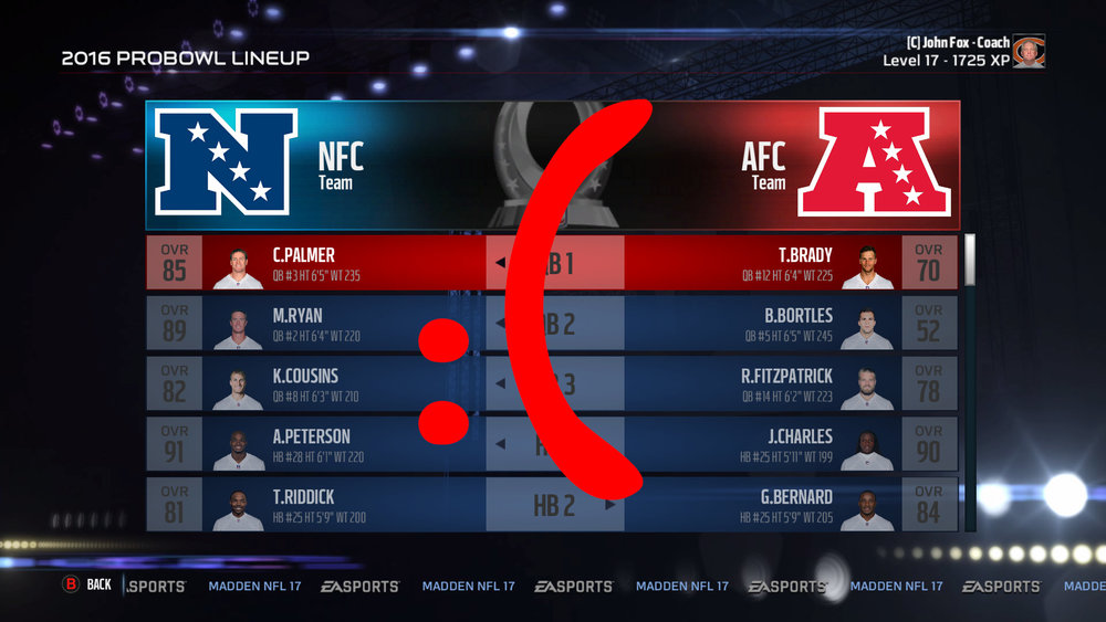 Everything about Madden Pro Bowls sucks