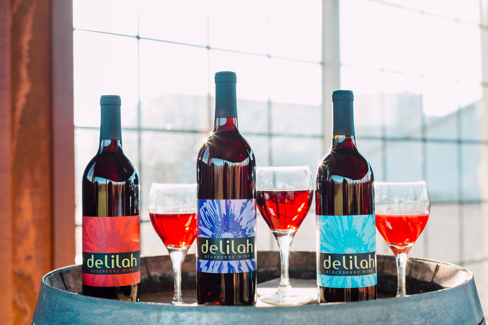 Artisan Fruit Wines - Delilah Raspberry Table Wine· 2018 Monterey International Wine Competition-Platinum· 2012 Sommelier Challenge San Diego – Silver· 2011 Capital Wine Competition – Silver· 2009 San Francisco Chronicle Wine Competition – Silver· 2007 Washington State Wine Competition – Gold· Northwest Wine Summit – Silver· 2005 Dallas Morning New Wine Competition – Gold· 2005 New World Wine Competition – SilverDelilah Blueberry Table Wine· 2018 World Wine Championships – Gold 91/100 - Exceptional· 2014 Finger Lakes International Wine Competition – Silver 2014 Northwest Wine Summit – SilverDelilah Blackberry Table Wine· 2018 Monterey International Wine Competition-Silver· 2018 Tasters Guild Award--Silver· 2011 Capital Wine Competition – Silver· 2006 Tri-Cities Wine Festival – Gold· 2006 Tri-Cities Wine Festival – Best in Class· 2004 Dallas Morning News Wine Competition – Silver
