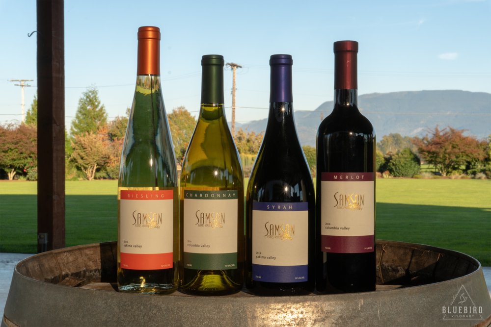 Varietal Wines - 2016 Yakima Valley Riesling· 2013 San Francisco Chronicle Wine Competition – Gold· 2013 Florida State Fair Wine Competition – Silver· 2009 Tri-Cities Wine Festival – Gold· 2006 San Francisco Chronicle Wine Competition – Silver· 2005 Tri-Cities Wine Festival – Silver·2005 International Eastern Wine Competition – Silver2017 Columbia Valley Chardonnay· 2008 Columbia Valley Chardonnay 2006 Walter Clore Award – Best Chardonnay· 2006 Washington State Wine Competition – Gold· 2006 Northwest Wine Summit – Gold· 2006 Tri-Cities Wine Festival – Silver2017 Yakima Valley Syrah· 2014 Finger Lakes International Wine Competition – Silver· 2013 Florida State Fair Wine Competition — Silver2016 Columbia Valley Merlot· 2014 Florida State Fair International Wine Competition – Silver