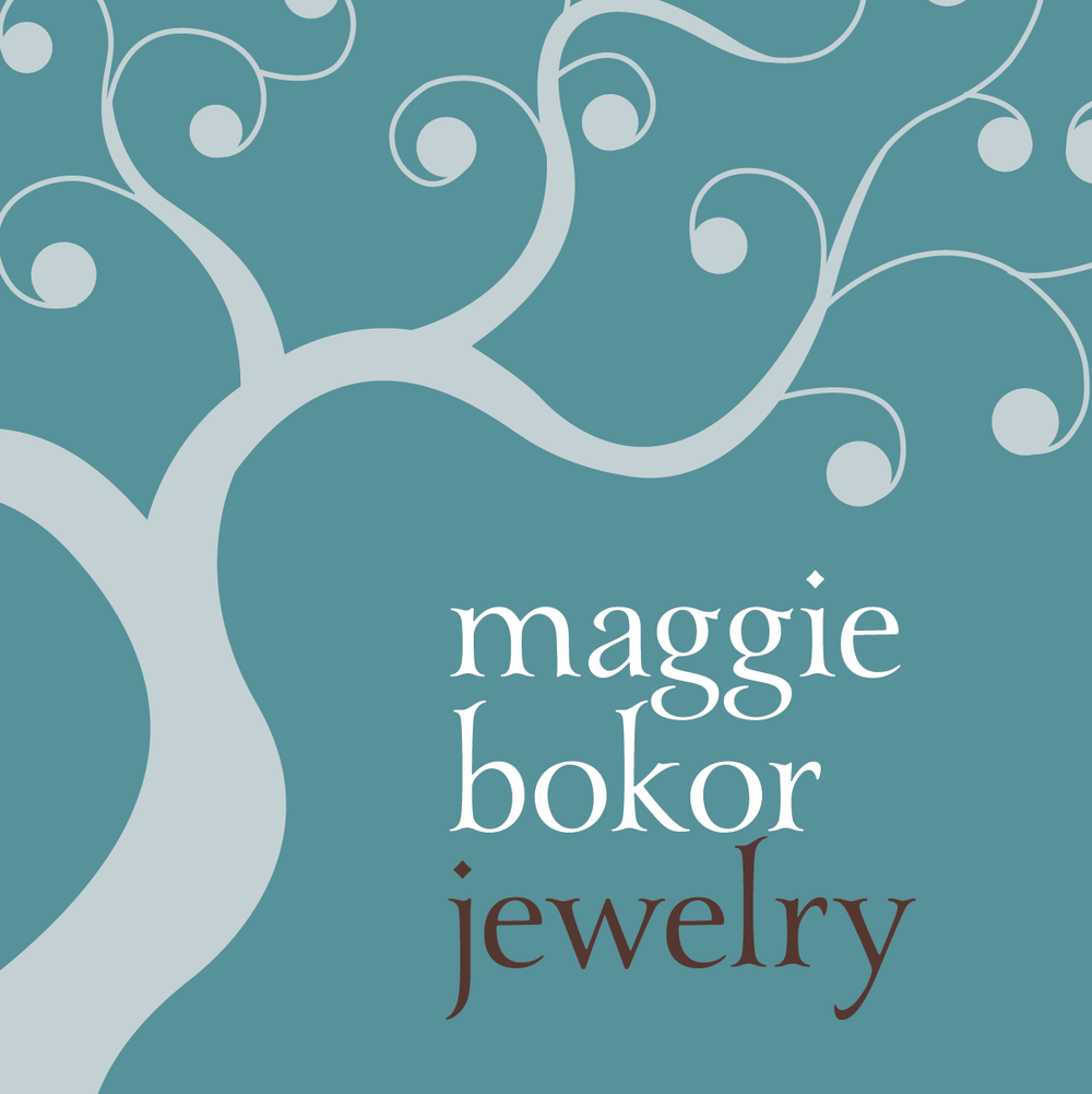 Maggie Bokor Jewelry Marketing materials | Design by ChrisAndAndy.com