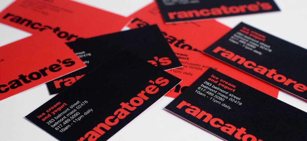 Design for Rancatore's Business cards. | Design by  ChrisAndAndy.com