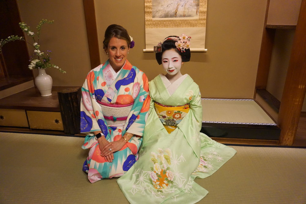 My apprenticeship as a Geisha or Geiko, specific to Kyoto. During our honeymoon we traveled throughout Japan and the Philippines for 3 weeks with only carryons. See below some of the essentials I packed!