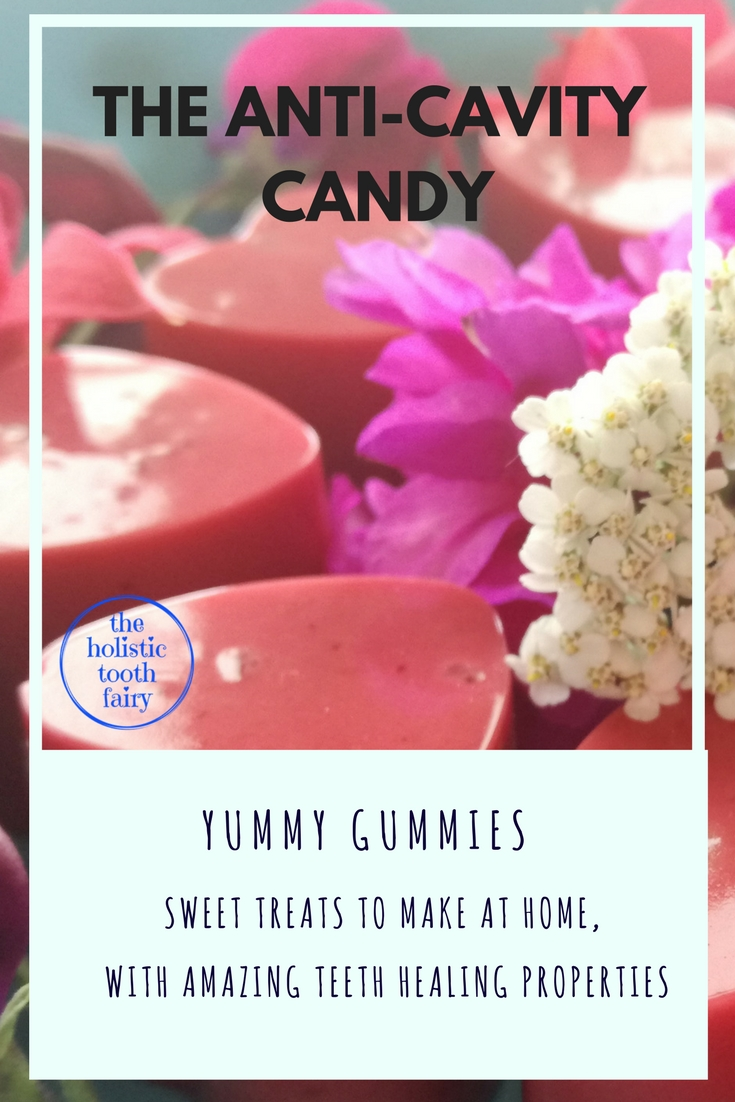 Yummy Gummies are an fast sugar-free treat to make at home, full of gelatin for remineralising teeth, reducing sensitivity, healing bleeding and receeding gums and more.