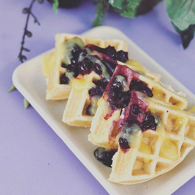 New Waffle !!! Lemon Blueberry 😘❤️🎉