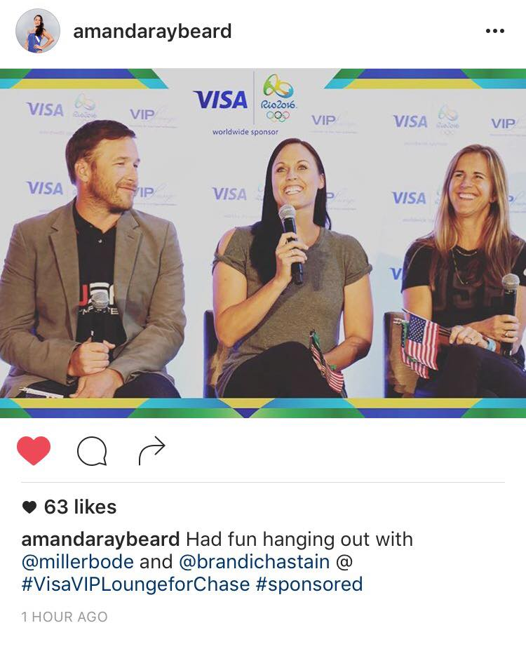 Social Media Photography, Corporate Photography, Instagram, Amanda Beard, Brandi Chastain, Bode Miller