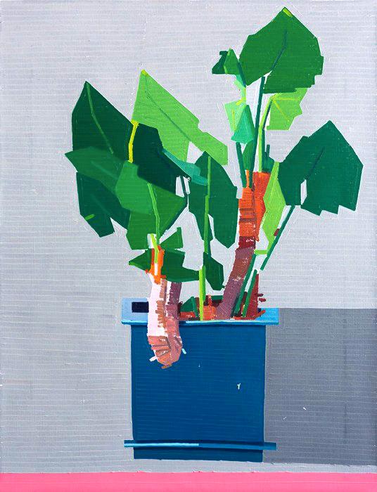 ".... — Peinture, Guy Yanai, série ""Plants"" .. — Painting from ""plants"" series, guy yanai ...."