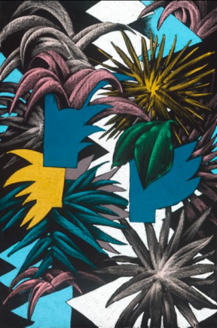 """— Peinture, Julien colombier, """"Play Jungle"""""""