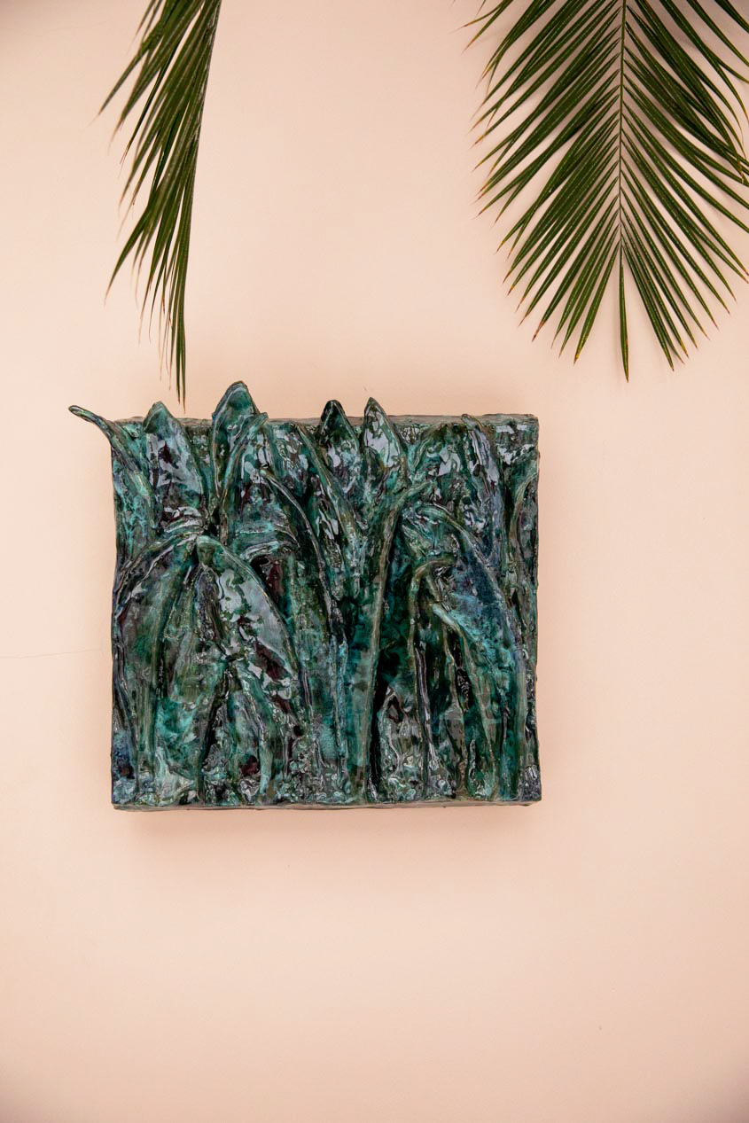 — Fresque en céramique imaginée par Bela Silva.