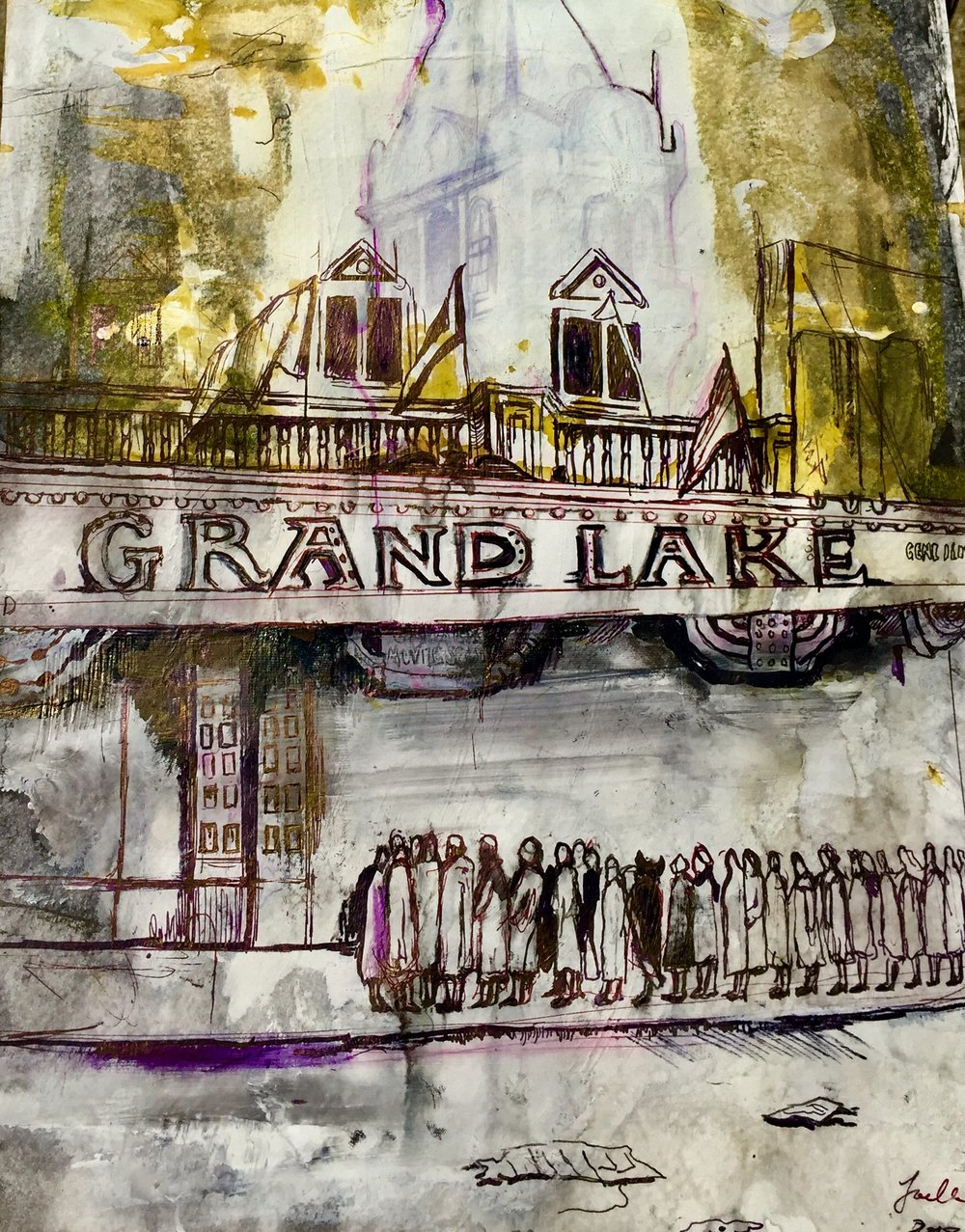 Grand Lake Theater, Archival Pen and Ink  17/11""