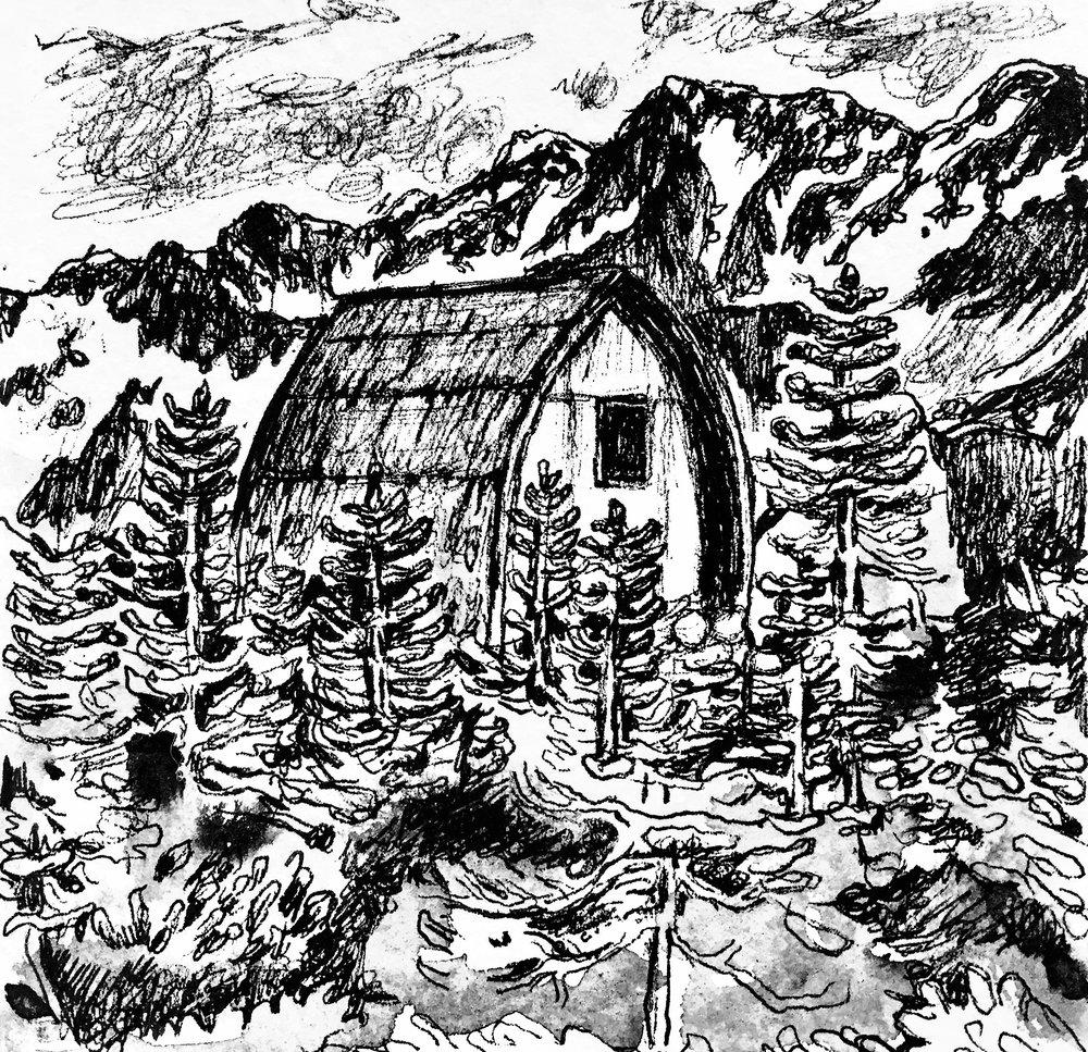 "Cabin Study, 5/5"""