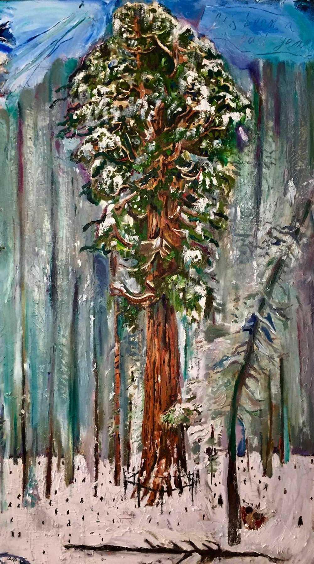 Merriment of the Tree, Oil on Canvas, 60/48""