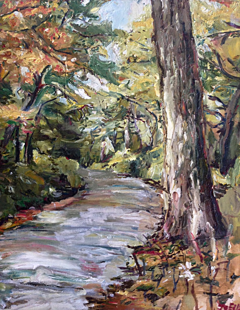 Take the Road to Snap Jack Lake, Oil on Canvas, 18/24""