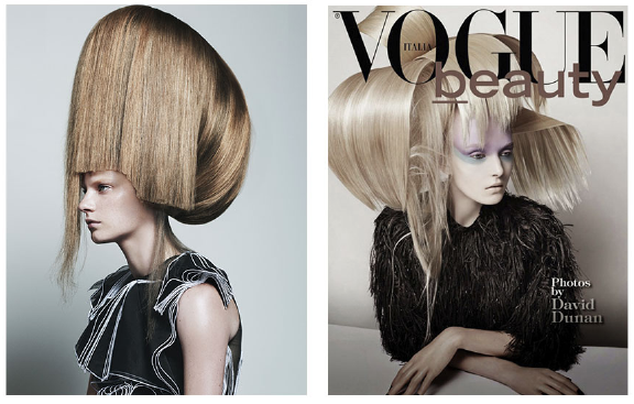 Left:  Vogue Italia with Stef van der Laan - Right: Vogue Italia with Maja Salamon