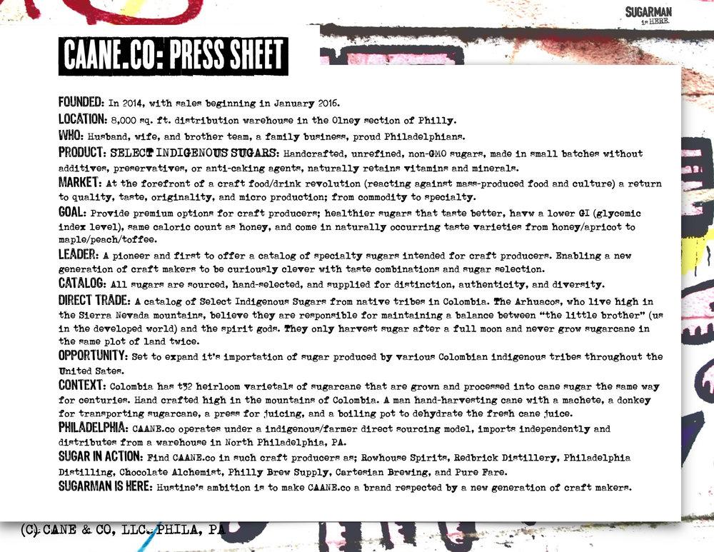 CAANE.co Press Sheet