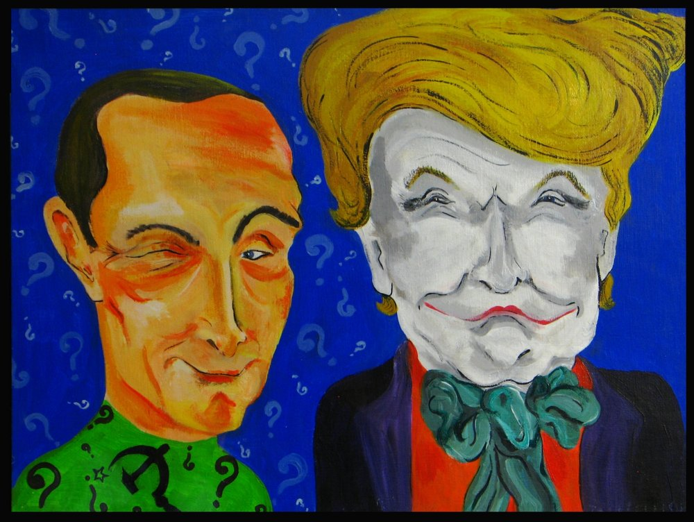Here are the Riddler and the Joker. (aka, Putin & Trump)