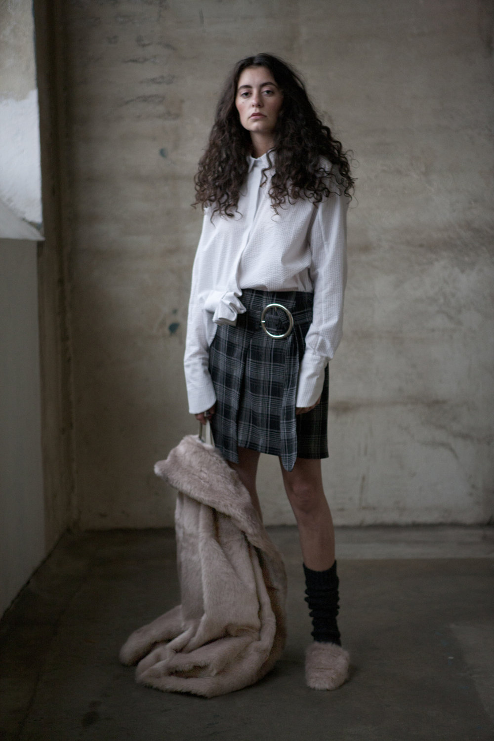 Cabin shirt / Mystic Skirt / Heathers Faux Fur Jacket