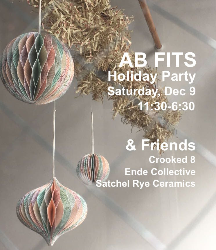 Join us Saturday December 9th from 11:30 AM - 6:30 PM for a holiday party at AB FITS!