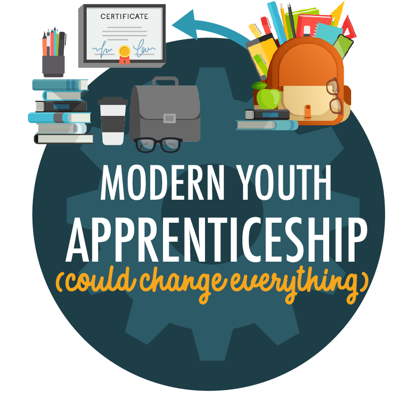 Click for the full Modern Youth-Apprenticeship infographic.