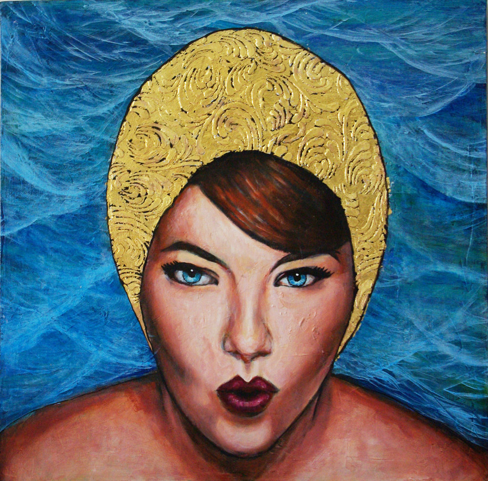 Swim Girl with Golden Cap