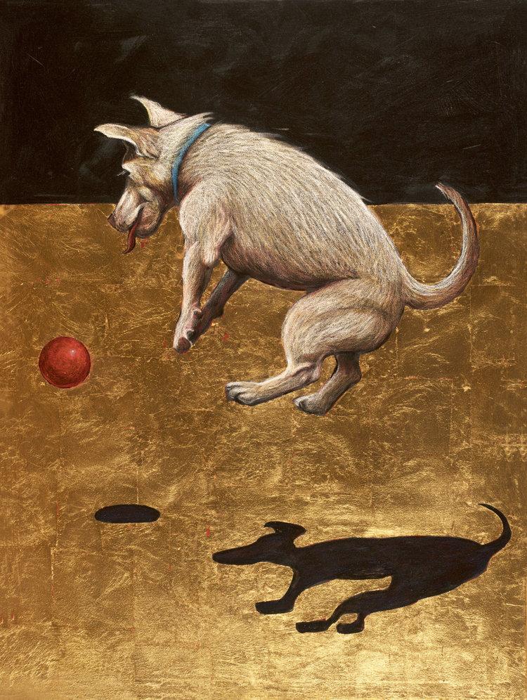 Dog and Ball (Leika)