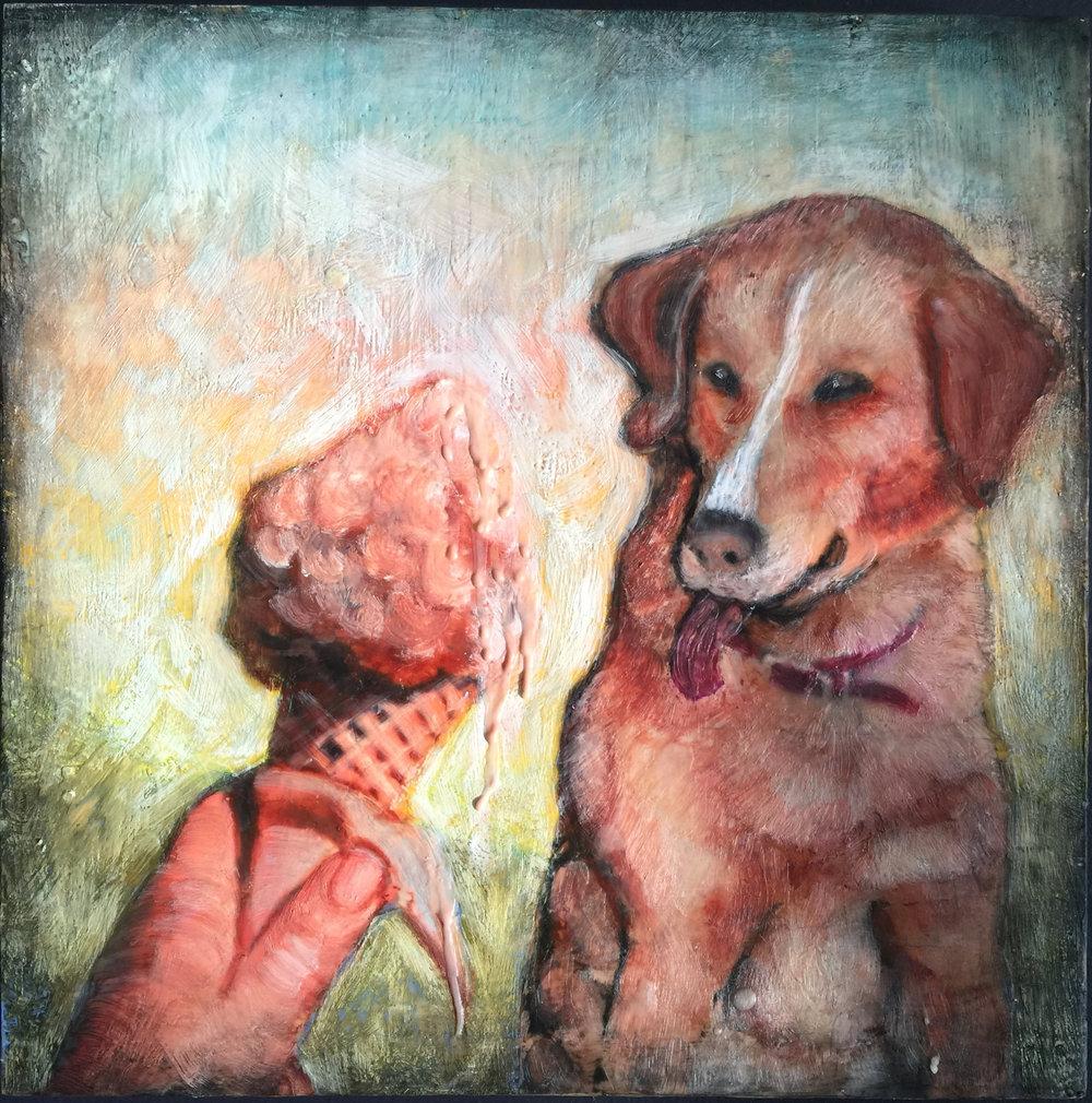 Dog and Ice Cream Cone 2