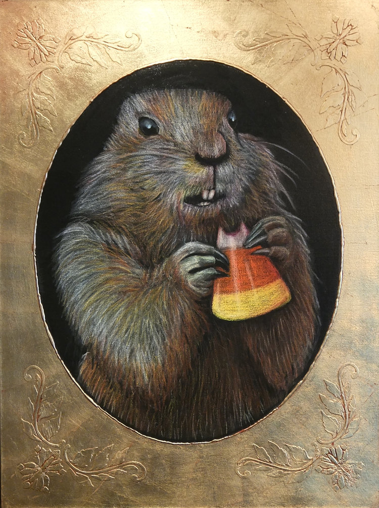 GOPHER WITH CANDY CORN