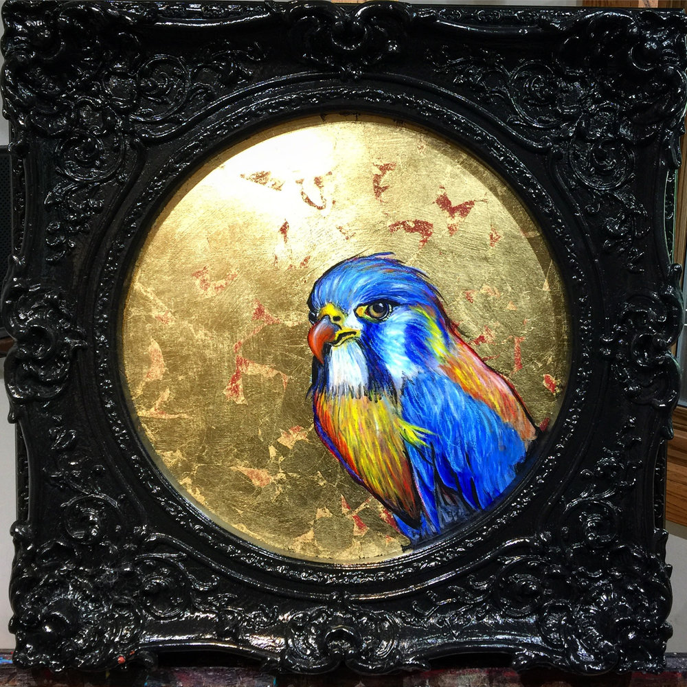 Blue Bird in Frame