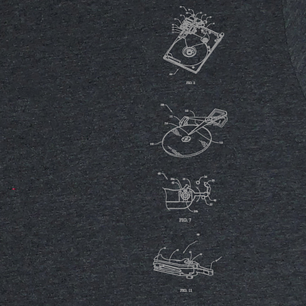 hard drive diagram men s charcoal heather t shirt level 1 techs Hard Drive Diagram Visio harddrive ts htrdkgry 4
