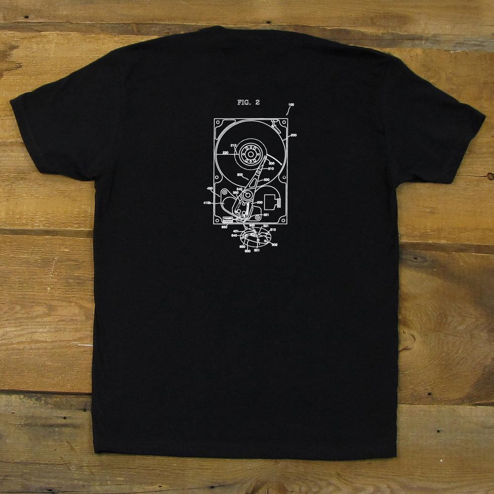 hard drive diagram men s black t shirt level 1 techs Hard Drive System hard drive diagram men s black t shirt