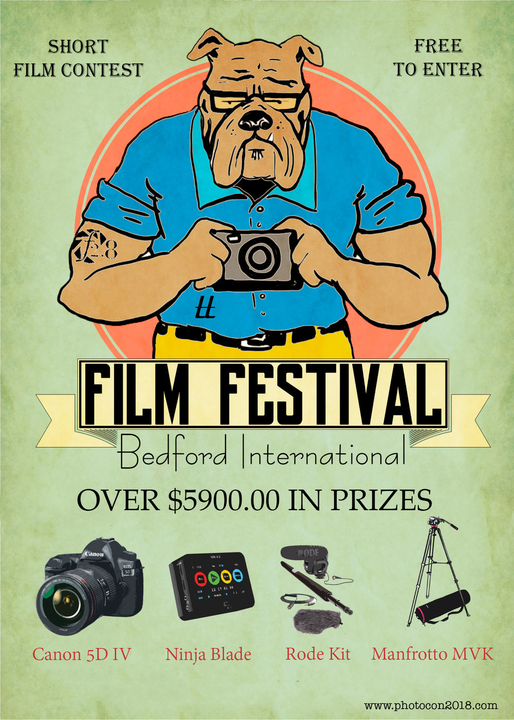 - 1. Submit an idea (any genre) for your masterpiece via Script, Storyboard or Video Interview for FREE 2. Qualify as one of 15 finalists and Bedford Camera will loan you a Canon 5D MKIV 24-105 Kit and a complete Rode Mic System 3. Create your masterpiece in its entirety in 96 hours (including BTS footage) 4. Attend 2nd Annual Bedford international Film Festival October 27, 2018 at the Tower Hotel OKC 5. Grand Prize Winner receives $5900.00 in Prizes including Canon 5D MK IV, Rode Microphone Kit, Atomos Ninja Blade and a Manfrotto Tripod.