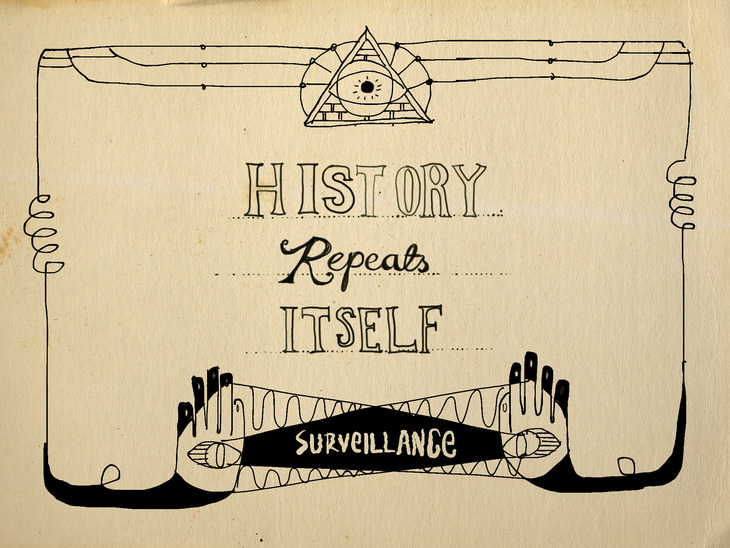 title card design for 'history repeats itself' TV short 2