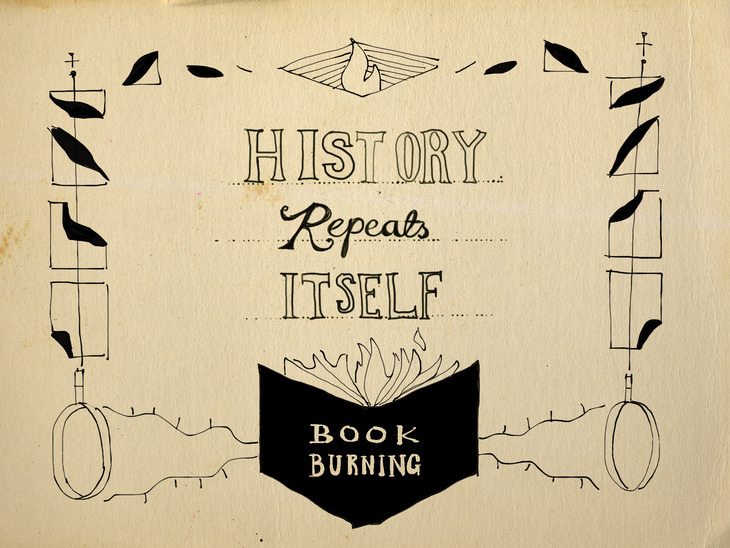 title card design for 'history repeats itself' TV short 3