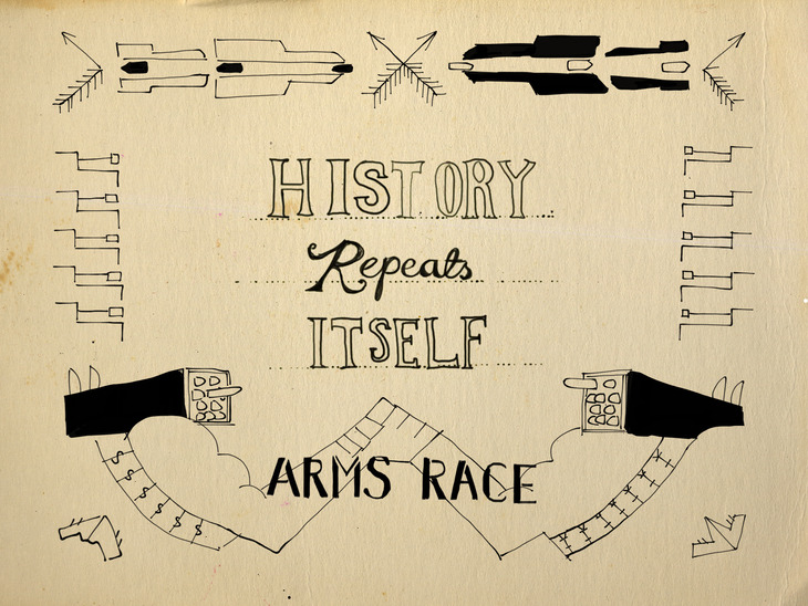 title card design for 'history repeats itself' TV short 1