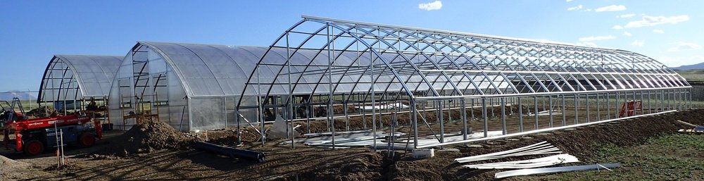 Once The Steel Skeleton Of The Ranger Series 2000 Greenhouse Is Erected, Roofing  Material Is