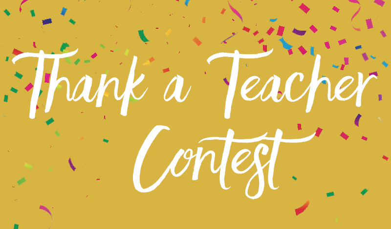 What makes your child's teacher special?   We want to celebrate home daycare providers and preschool teachers, and you can help! In 100 words or less, explain what makes your child's teacher special and how they have had a positive impact on your child. The winning teacher will receive $100 gift card to Lakeshore Learning.  Contest ends May 20, 2017