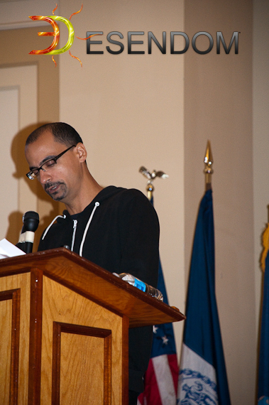 Junot Diaz speaking at Bronx Community College. September 20, 2010.