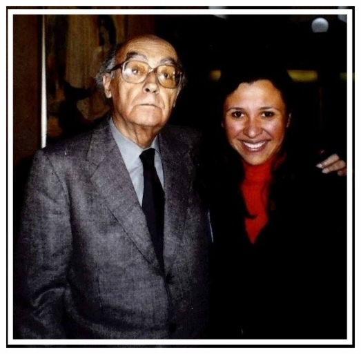 José Saramago and Sophie Maríñez, Mexico City, 1999. Photo: Courtesy of Sophie Maríñez.