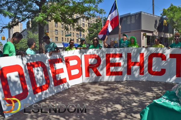 El domingo, 16 de julio de 2017, dominican@s en Nueva York marcharon en contra de la impunidad. Photo: ESENDOM.