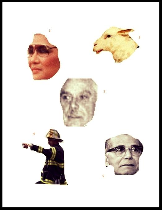 1. Imelda Marcos; 2. Loba vestida de obeja; 3. Trujillo; 4. Apagafuegos; 5.Joaquín Balaguer