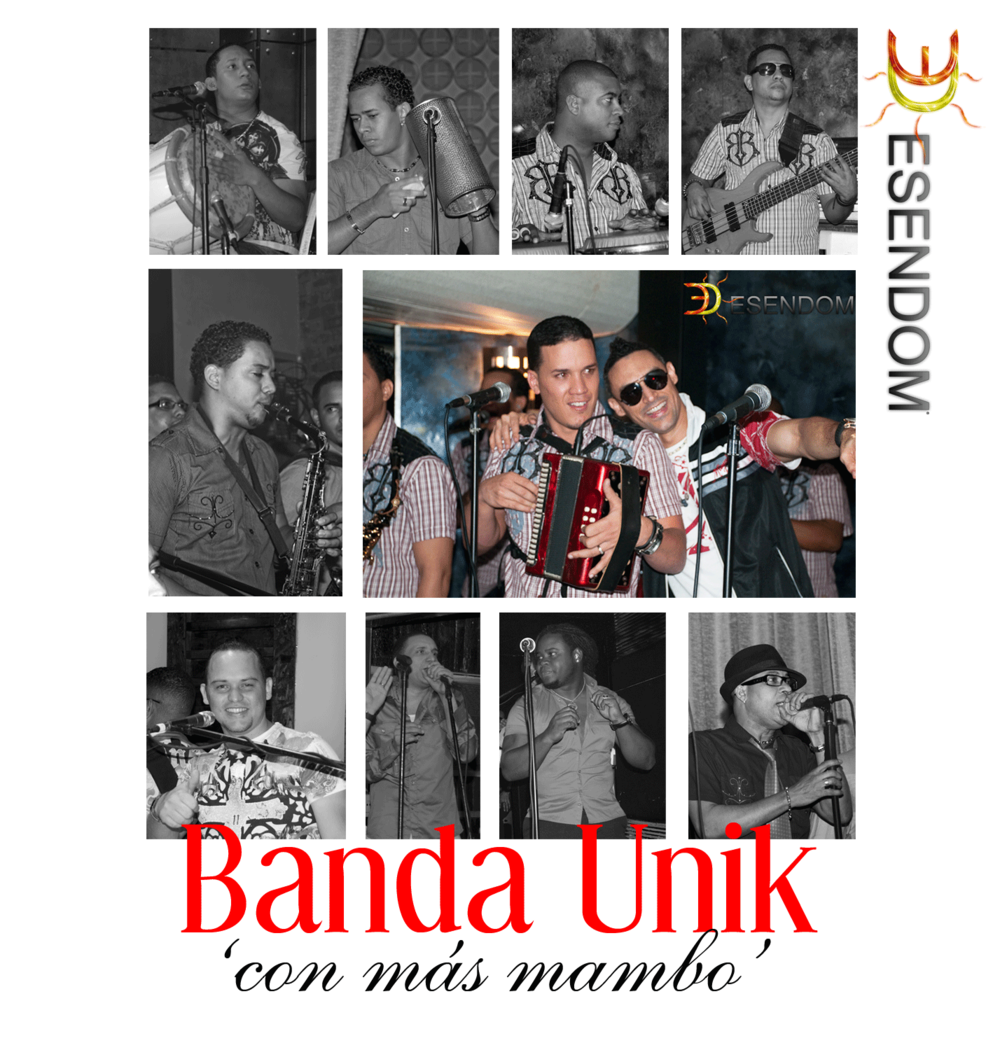 Robert Liriano en sus inicios como líder de la agrupación Banda Unik