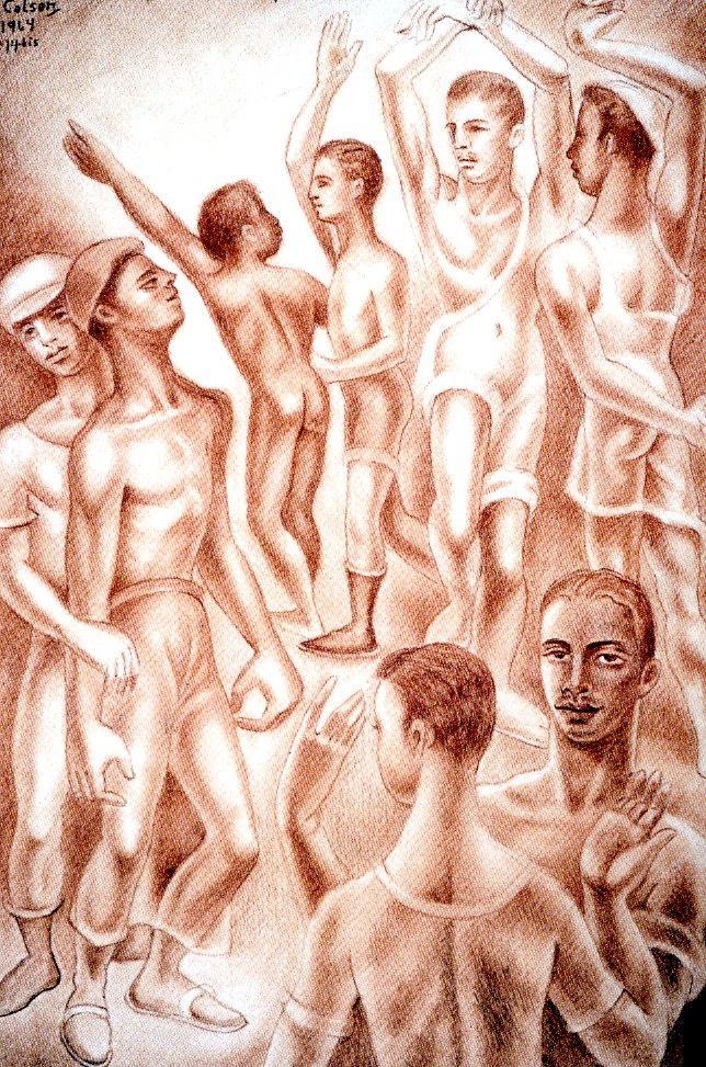 «Sin título» by Jaime Colson, 1964.  Source:   Memoria de la pintura dominicana , Vol. 4, p.236, 2004.
