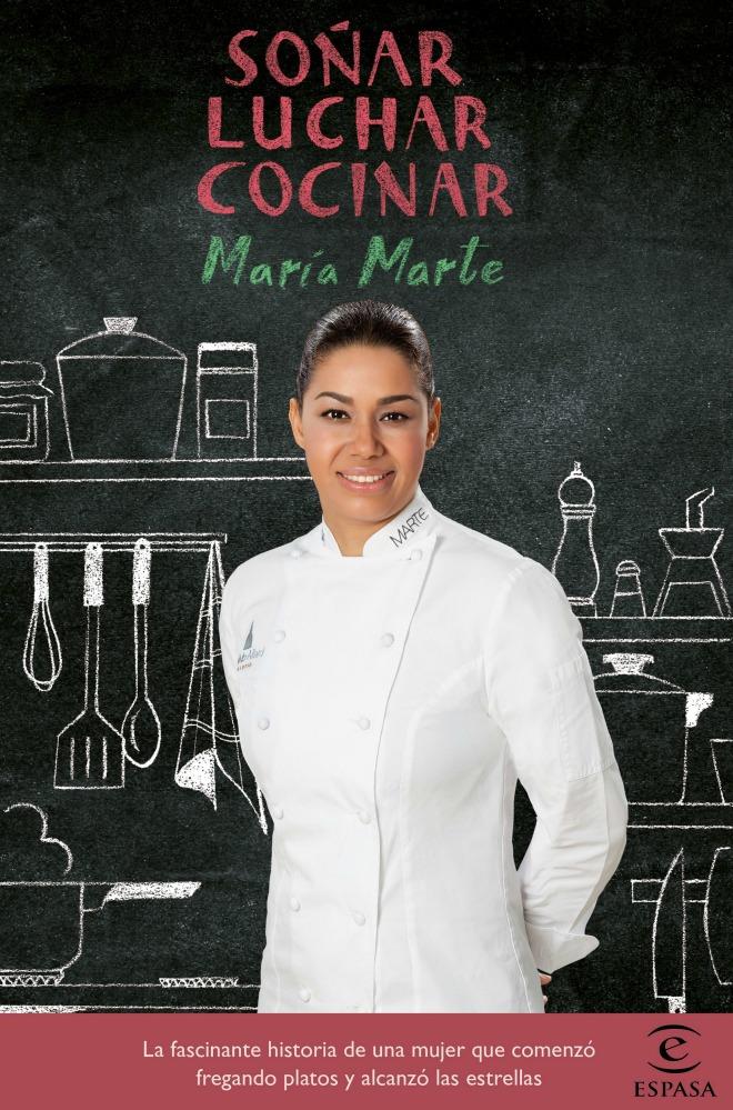 Cover of María Marte's book,  Soña, luchar, cocinar  .