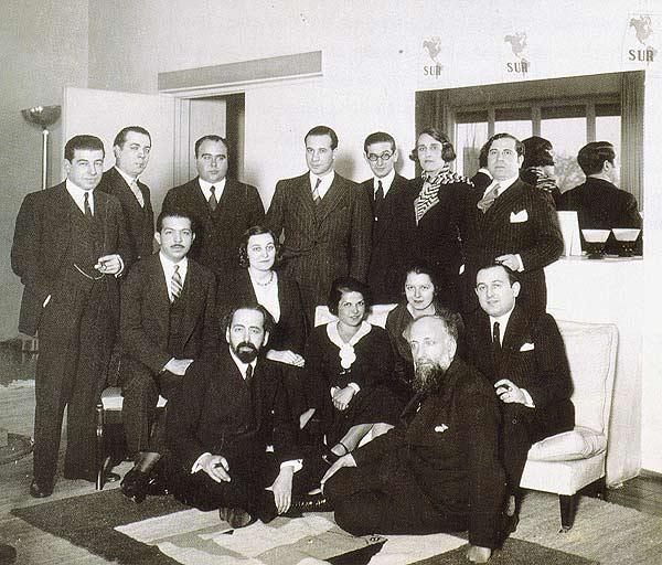 Pedro Heriquez Ureña con los demás fundadores de la revista Sur en 1931./Fuente:Cielonaranja.